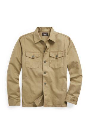 RRL Camisa de sarga en espiga