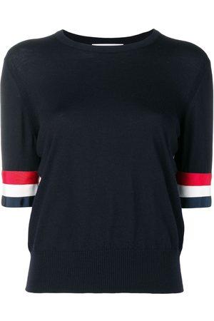 Thom Browne Camiseta Rwb de lana merina con puños ribeteados