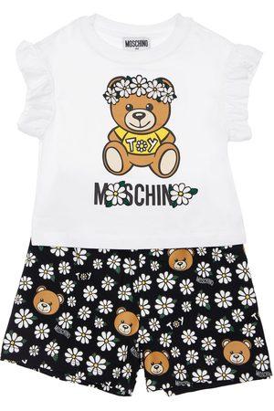 Moschino Niña Pantalones cortos - | Niña Camiseta Y Shorts Con Estampado De Teddy Bear /negro 8a
