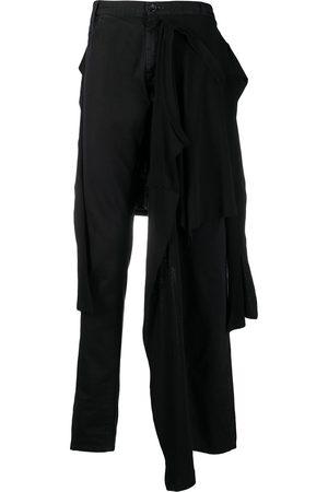 Raf Simons Vaqueros slim con panel de camiseta en la cintura