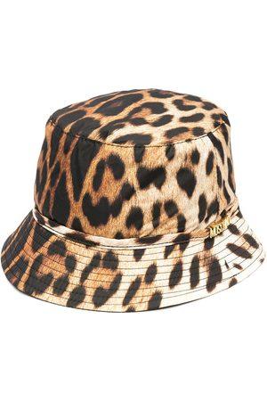 Moschino Mujer Sombreros - Sombrero de pescador con motivo de leopardo