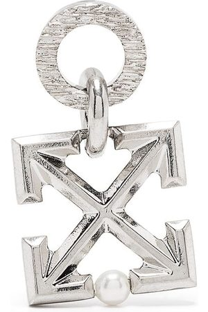 OFF-WHITE ARROW MONO EARRING SILVER NO COLOR