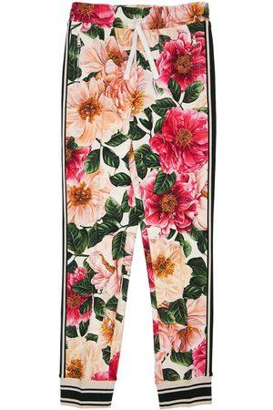 Dolce & Gabbana   Niña Pantalones Deportivos De Algodón Estampados 8a