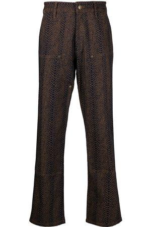 Chinatown Market Pantalones con efecto de piel de serpiente