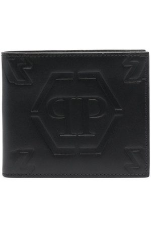 Philipp Plein Cartera con logo en relieve