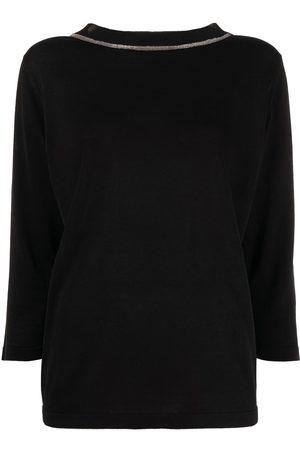 Fabiana Filippi Mujer Jerséis y suéteres - Jersey con raya en contraste