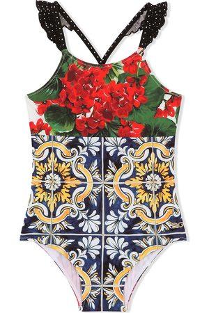 Dolce & Gabbana Kids Niño Shorts de baño - Bañador con estampado floral