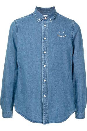 PS Paul Smith Camisa vaquera con logo bordado
