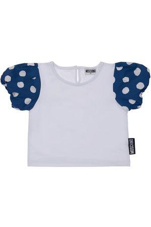 MOSCHINO Niña Camisetas - | Niña Camiseta De Jersey De Algodón Con Logo /azul 8a