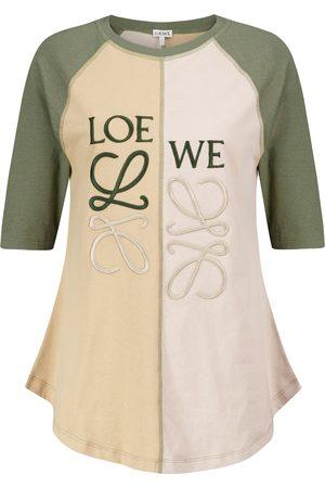Loewe Camiseta de algodón bordada