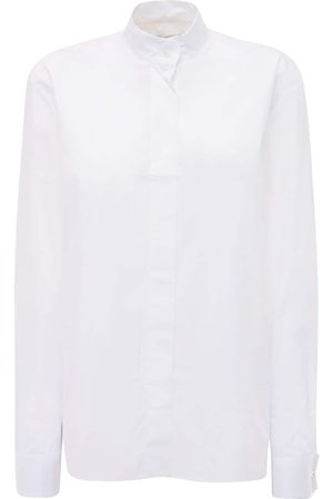 ALEXANDRE VAUTHIER | Mujer Camisa De Popelina De Algodón Con Botones Cristal 34