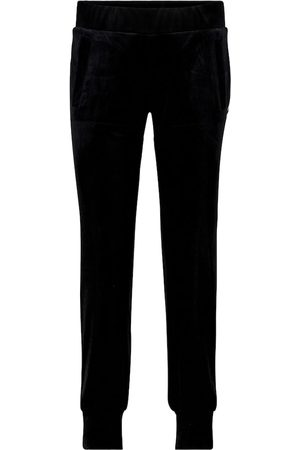 Norma Kamali Pantalones de chándal de terciopelo