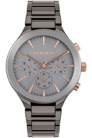 Police Reloj analógico PL15936JBGY.13M, Quartz, 44mm, 5ATM para hombre