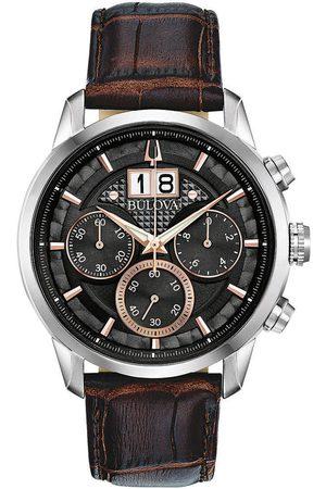 BULOVA Reloj analógico 96B311, Quartz, 44mm, 3ATM para hombre