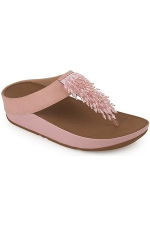 FitFlop Chanclas RUMBA TM TOE-THONG SANDALS CRYSTAL - DUSKY PINK para mujer