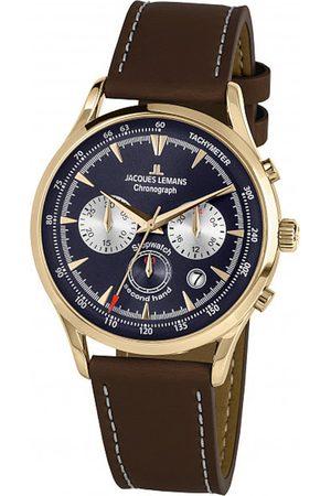 Jacques Lemans Reloj analógico 1-2068K, Quartz, 41mm, 5ATM para hombre