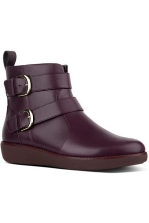 FitFlop Botines LAILA DOUBLE BUCKLE - BERRY para mujer