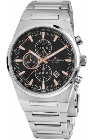 Jacques Lemans Reloj analógico 1-1734A, Quartz, 43mm, 10ATM para hombre