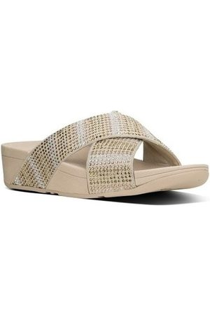 FitFlop Sandalias STROBE TM SLIDE SANDALS - GOLD MIX para mujer