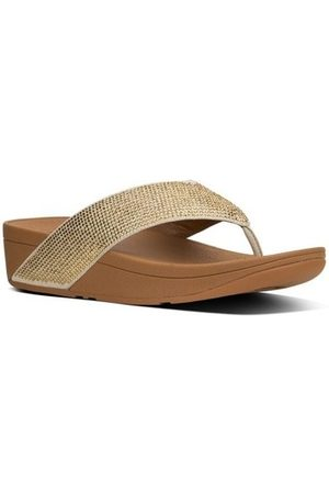 FitFlop Chanclas CRYSTALL TM II TOE-THONG SANDALS - GOLD MIX para mujer