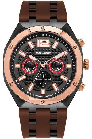 Police Reloj analógico PL15995JSBR.61P, Quartz, 48mm, 10ATM para hombre