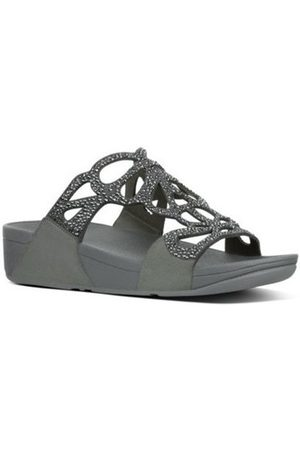 FitFlop Sandalias BUMBLE CRYSTAL SLIDE - PEWTER es para mujer