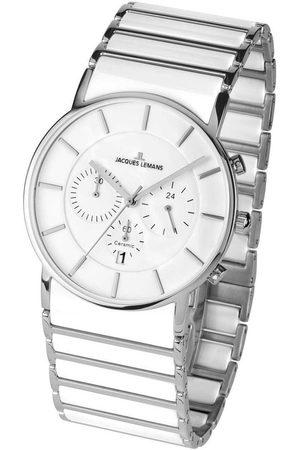 Jacques Lemans Reloj analógico 1-1815B, Quartz, 42mm, 5ATM para hombre
