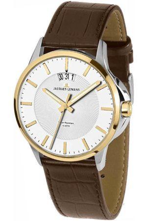 Jacques Lemans Reloj analógico 1-1540H, Quartz, 42mm, 10ATM para hombre