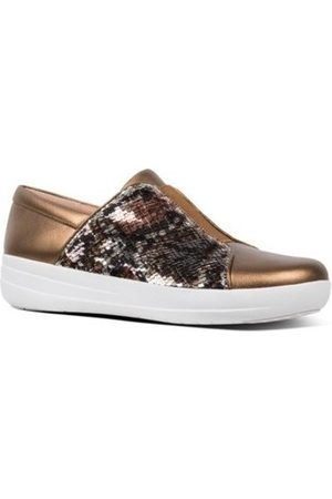 FitFlop Zapatos Mujer NEW ZIP SNEAKER SNAKE PRINT SEQUINS - BRONZe para mujer