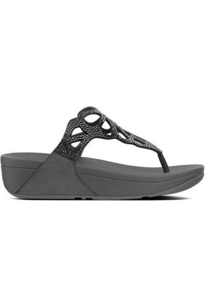 FitFlop Chanclas BUMBLE CRYSTAL TOE POST - PEWTER es para mujer