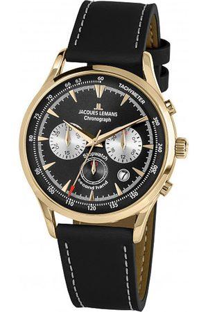 Jacques Lemans Reloj analógico 1-2068I, Quartz, 41mm, 5ATM para hombre