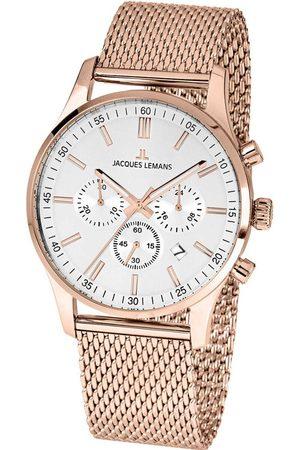 Jacques Lemans Reloj analógico 1-2025J, Quartz, 42mm, 10ATM para hombre