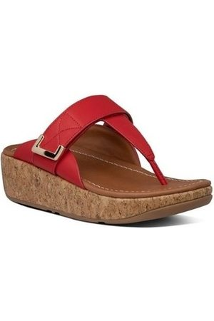FitFlop Chanclas REMI ADJUSTABLE TOE THONGS - RED para mujer