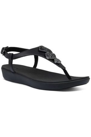 FitFlop Chanclas LAINEY CIRCLE TOE THONGS - BLACK para mujer
