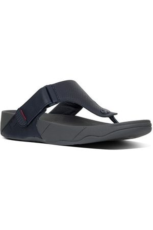 FitFlop Chanclas TRAKK TM II PERFORATED LEATHER - SUPERNAVY para hombre
