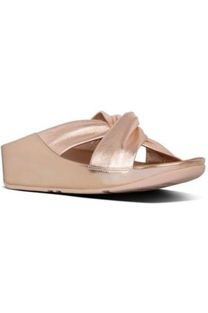 FitFlop Sandalias TWISS SLIDE - ROSE GOLD para mujer