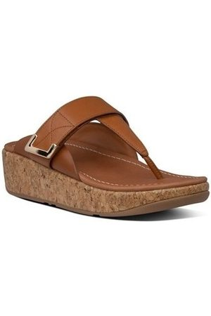 FitFlop Chanclas REMI ADJUSTABLE TOE THONGS - LIGHT TAN para mujer