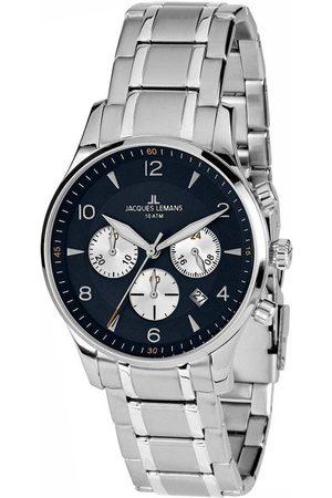 Jacques Lemans Reloj analógico 1-1654K, Quartz, 40mm, 10ATM para hombre