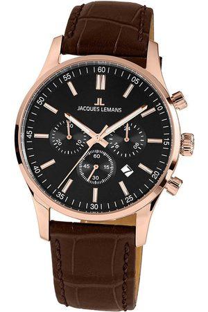 Jacques Lemans Reloj analógico 1-2025D, Quartz, 42mm, 10ATM para hombre