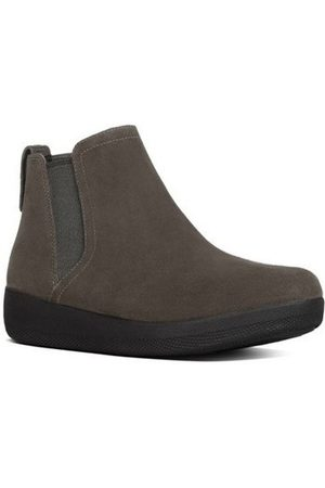 FitFlop Botines SUPERCHELSEA TM BOOT- Bungee Cord Suede para mujer