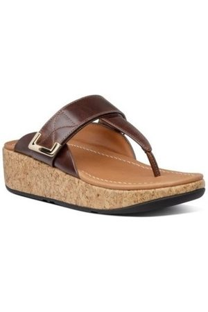FitFlop Chanclas REMI ADJUSTABLE TOE THONGS - CHOCOLATE BROWN para mujer