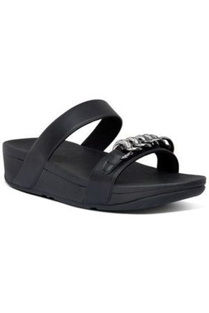 FitFlop Sandalias LOTTIE CHAIN SLIDES - ALL BLACK para mujer