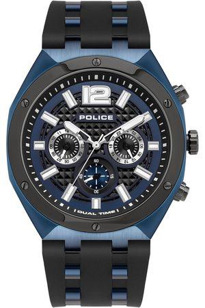 Police Reloj analógico PL15995JSBLU.03P, Quartz, 48mm, 10ATM para hombre