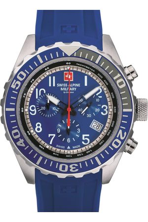 Swiss Alpine Military Reloj analógico 7076.9835, Quartz, 44mm, 10ATM para hombre
