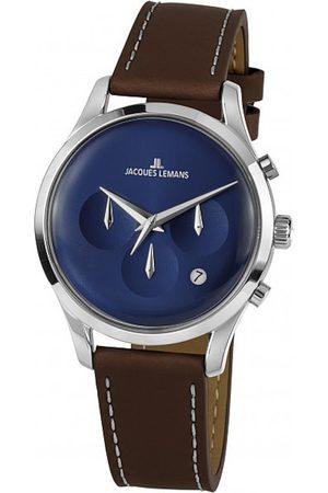Jacques Lemans Reloj analógico 1-2067C, Quartz, 38mm, 5ATM para hombre