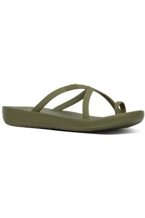 FitFlop Chanclas iQUSION WAVE - SLIDES - AVOCADO es para mujer