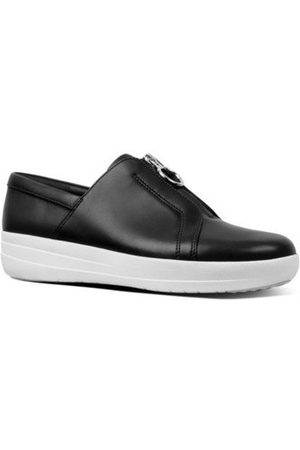 FitFlop Zapatos NEW ZIP SNEAKER LEATHER - BLACK para mujer