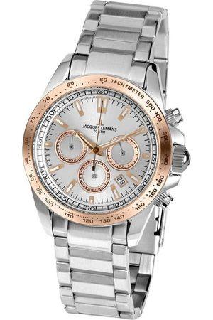 Jacques Lemans Reloj analógico 1-1836J, Quartz, 41mm, 20ATM para hombre