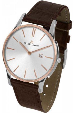 Jacques Lemans Reloj analógico 1-1936F, Quartz, 40mm, 10ATM para hombre