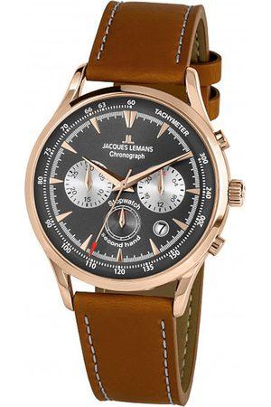 Jacques Lemans Reloj analógico 1-2068F, Quartz, 41mm, 5ATM para hombre